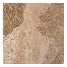 "18""x18"" Cedar Emperador Polished Marble Tile"