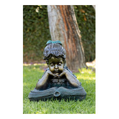 Girl Reading Book Statue
