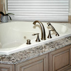 Beaded Inset Cabinetry Traditional Bathroom Kansas
