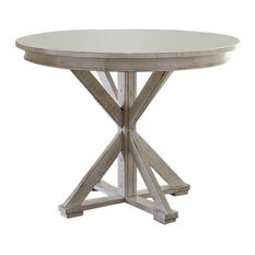 Willow Round Counter Height Table, Distressed White