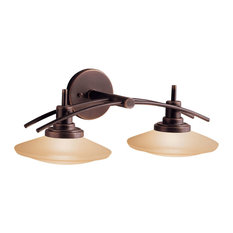 Most popular kichler bathroom vanity lights for 2018 houzz kichler olde bronze bath 2 light halogen bathroom vanity lighting aloadofball Images