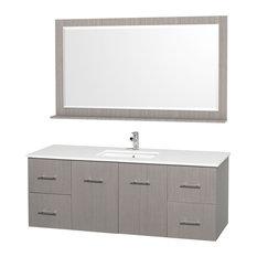 2 Drawer Bathroom Vanity Set in Gray Oak
