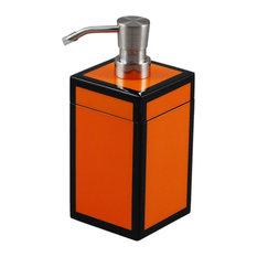 Orange and Black Lacquer Soap Pump