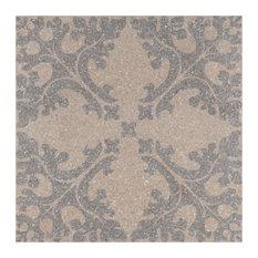 "SomerTile 11.5""x11.5"" Farnese Molise Porcelain Floor and Wall Tile, Crema"