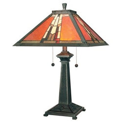 Guest picks living in supernatural craftsman table lamps dale tiffany tt100716 24 amber monarch table lamp aloadofball Image collections