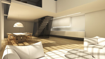 Progetto di trasformazione di un'officina a Loft di lusso su due livelli 200 mq