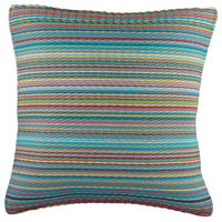"Fab Habitat Outdoor Accent Pillow, Cancun Candy, 20""x20"""
