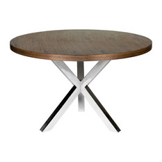 pangea home collin round dining table walnut dining tables
