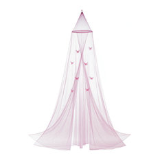 Accent Plus - Pink Butterfly Bed Canopy - Bed Accessories