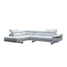 1717 Premium Leather Modern Sectional Sofa, Left Hand Facing Chaise