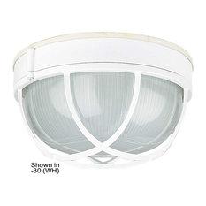 "Sunset Lighting F7987 1 Light Outdoor Cast Aluminum 10""W Flush - Black"