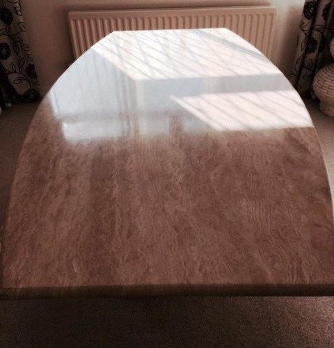 Travertine Table Top Restoration In Preston