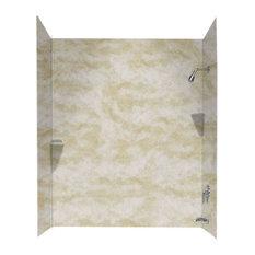 Swan 30x60x72 Solid Surface Bathtub Wall Kit, Cloud White