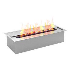 "Regal Flame - Regal Flame PRO 12"" Bio Ethanol Fireplace Burner Insert, 1.5L - Tabletop Fireplaces"
