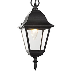 Matt Black Cast Aluminium IP44 Outdoor Hanging Lantern