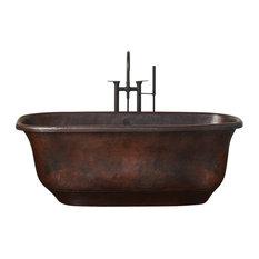 Santorini Freestanding Copper Bathtub, Antique