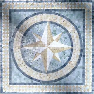 Nautical Theme Mosaic 2 - Mosaic Tile