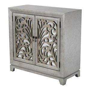 Vivian 1 Drawer 2 Door Corner Cabinet With Paned Glass