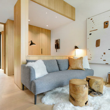 Modern Northwoods Residence Guest Bedroom Sitting Area & Office