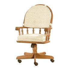 Intercon Furniture Classic Oak Tilt/Swivel Chairs, Set of 2