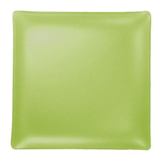 "11"" Seaglass Square Plate, Citron"