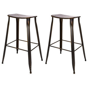 Sensational Bar Stool With Steel Metal Legs And Wooden Seat Industrial Gmtry Best Dining Table And Chair Ideas Images Gmtryco