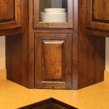 Corner Cabinet with appliance grage