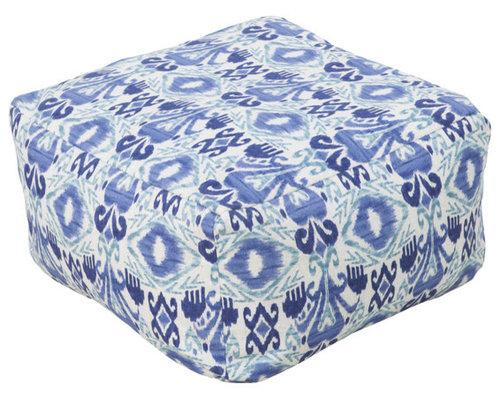 Surya Poufs- (POUF-117) - Floor Pillows And Poufs