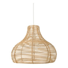 Palau Continuous Weave Wicker Dome Lamp, Natural, Large