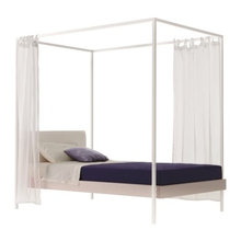 Girl`s Bedroom with Canopy Bed