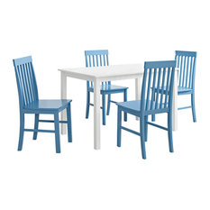 Grayson 5-Piece Dining Set with Colorful Chairs, Blue