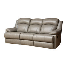Clarence Reclining Leather Sofa, Gray