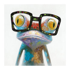 Smart Frog Painting in Multicolor