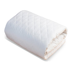 100% Organic Cotton Mattress Pad and Protector, Queen