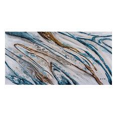 """""""Water Running Down The Hill"""" Abstract Hand Painted Art; Fine Art; Modern Art"""