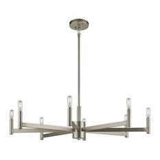 Chandelier 8-Light, Satin Nickel