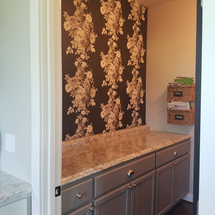Wallpaper Install: Pantry Accent Wall