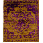ModernRugs - Joplin Rug, 6' x 9' - The Joplin Rug is an abstract interpretation of a traditional rug pattern. The psychedelic purple and orange colorway bring a vibrant energy, while the textured base provides pleasing natural color variation.