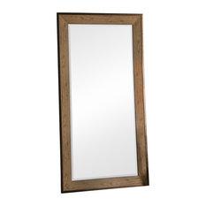 Barrington Rectangular Leaner Mirror With Oak Effect Frame, 80x155 cm