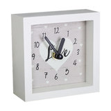 Small White Wooden Wall Mantel Clock