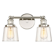 Union Polished Nickel Finish, Bath Fixture With 2 Lights