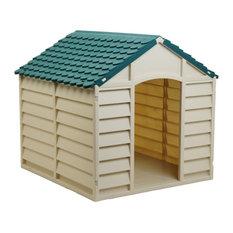 starplast starplast large dog house kennel greenbeige dog houses