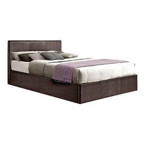 Double Lift Up Storage Bed Upholstered, Faux Leather With Plenty Storage Space