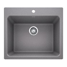 "BLANCO - 25""x22""x12"" Blanco Liven Silgranit Laundry Sink, Metallic Gray - Utility Sinks"