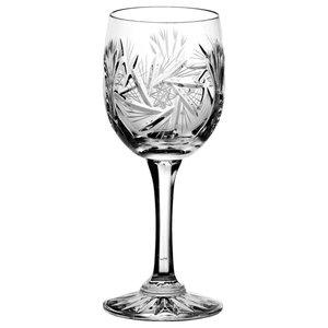 Monika Pinwheel Lead Crystal Wine Glasses, Set of 6