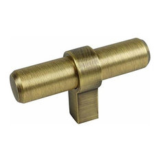 Cosmas 181BAB Brushed Antique Brass Euro Style T Bar Knob