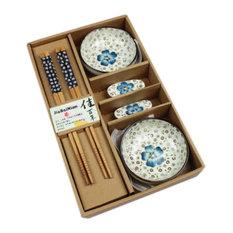 Blancho Bedding - Elegant Ceramic Dishes Set With Circular Plates And Chopsticks Blue - Dinnerware  sc 1 st  Houzz - AJC.com & Most Popular Asian Dinnerware Sets for 2018 | Houzz