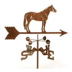 Quarter Horse Weathervane With Post Mount