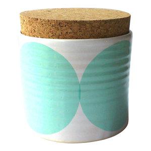 Spots Tea Jar, Turquoise
