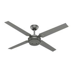 "Hunter Fan Company 54"" Chronicle Matte Silver Ceiling Fan With Wall Control"